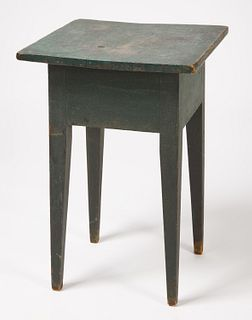 Tapered Leg Stand in Blue Paint