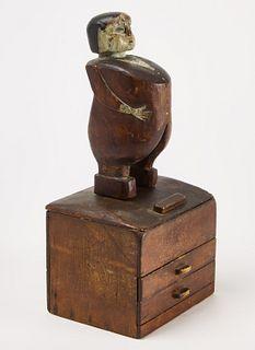 Carved Folk Art Figure Boss Tweed