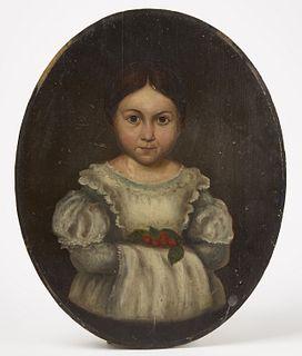 Portrait of Girl Holding Cherries