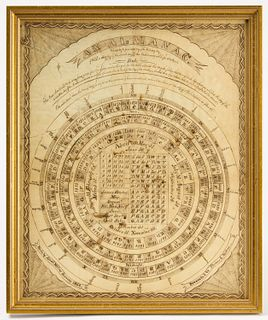 Almanac Drawing - 1862