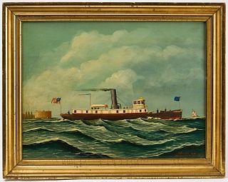 Antonio Jacobsen Marine Painting