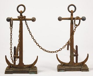 Pair of Anchor Andirons