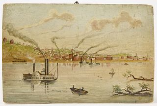 View of Poughkeepsie on Panel