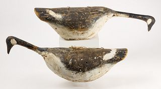 Pair of Early Native American Goose Decoys