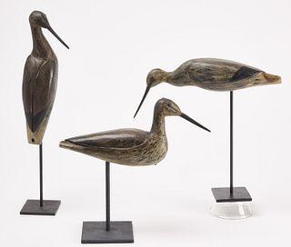 Willet Shorebird Decoy Trio