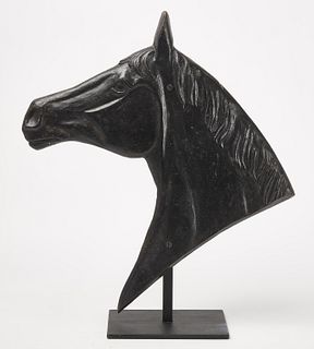 Iron Horse Head on Stand