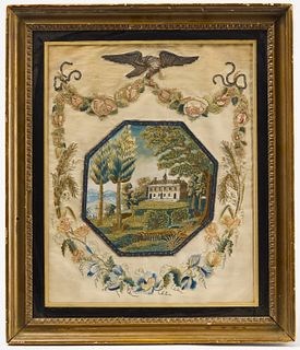 American Needlework with House