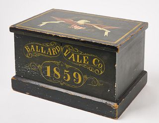 Painted Box with Eagle Dated 1859