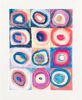 After Wassily Kandinsky, (Russian, 1866-1944), Color Study Circles Poster