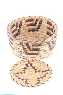Tohono O'odham Indian Hand Woven Basket Collection