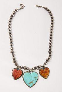 Navajo Necklace with Hearts
