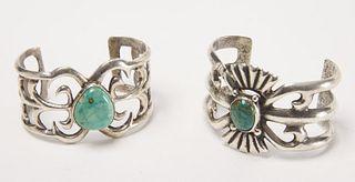 Two Navajo Sand Cast Bracelets