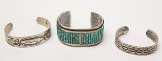 Three Good Navajo Bracelets