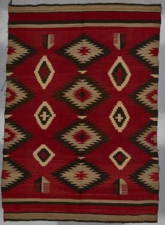 Navajo Transitional Weaving with Crosses