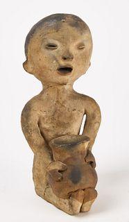 Native American Tesque Pottery Figure