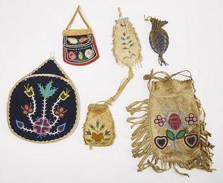 Six Native American Bags