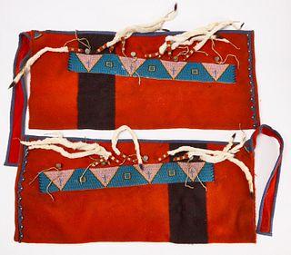 Native Beaded Strips on Leggings