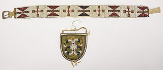 Beaded Belt and Pouch