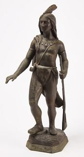 Tammany Spelter Figure of Indian