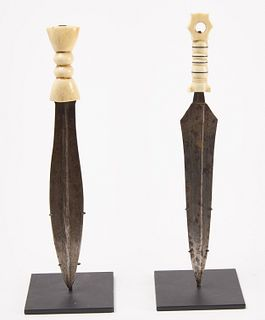 "Two ""Dinka"" Knives Democratic Republic of Congo"
