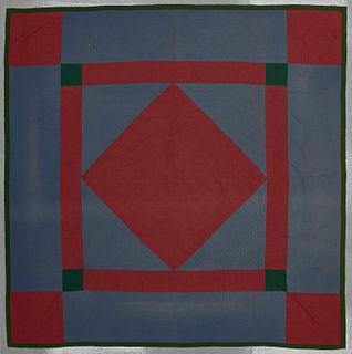 Amish Center Diamond Quilt