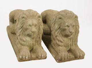 Cast Stone Lions