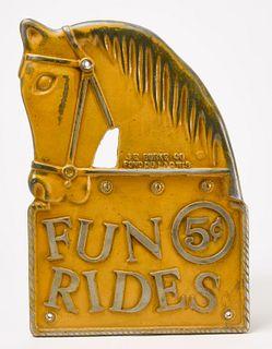 Fun Rides Horse Sign
