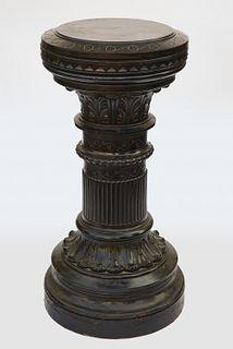 Fine Ebonized Pedestal with Rotating Top