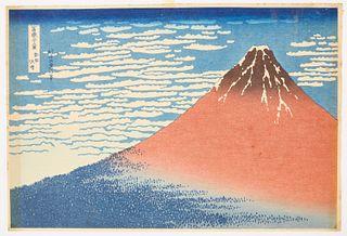 Japanese Block Pront - Mt Fugi