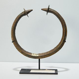Yoruba Peoples, large torque currency, exhibited