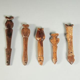 Mossi Peoples, (5) wood whistles
