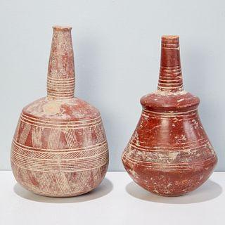 Djenne Culture, (2) beautiful terracotta vessels