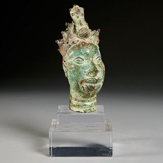 Ife Culture style bronze bust