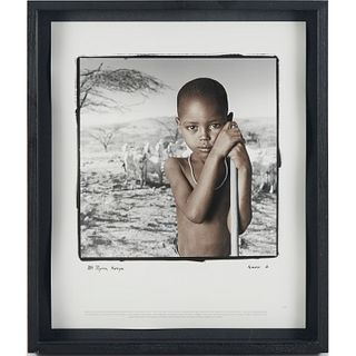 Phil Borges, framed photograph, signed