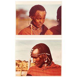 Carol Beckwith, Maasai Portraits, signed