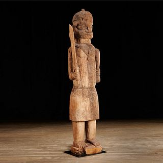 Benin carved figure, ex-collection Jay C. Leff