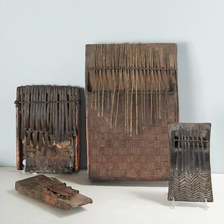 (4) African thumb pianos