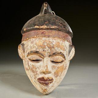 Kongo style polychromed wood mask