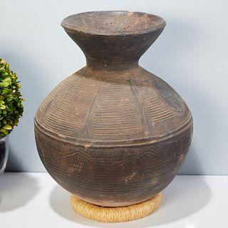 Yoruba Peoples, large terracotta pot