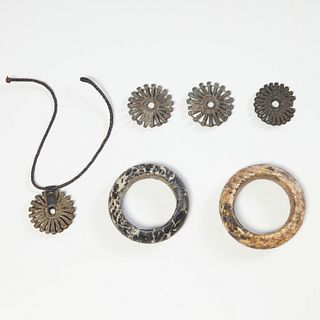 Dogon Peoples, bracelets and pendants