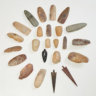 Group North African Neolithic style axe heads
