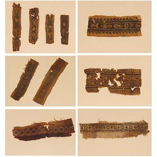 Group (10) Coptic textile border fragments
