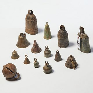 Group (14) African copper-alloy bells
