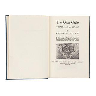 Chávez, Angélico. The Oroz Codex. Washington: Academy of American Franciscan History, 1972.