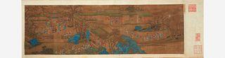 Chinese School, 19th century or earlier 十九世纪或更早 One Hundred Auspicious Subjects, eight works 百寿百吉祥卷轴画 一套八幅