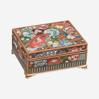 A fine Japanese Cloisonné box 日本珐琅盒子 Late 19th century 十九世纪晚期