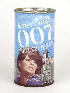1967 James Bond's 007 Special Blend Malt Liquor 12oz Tab Top Can T82-28