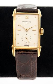 Rare Patek Philippe 18K Gold Watch, Late 40's