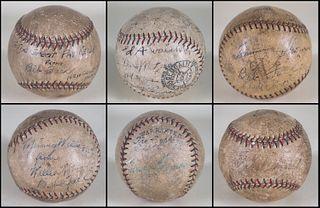 Group of Six American League Signed Baseballs