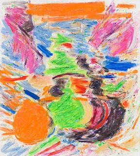 Jennie Haddad  Untitled (Orange, Blue, Pink and Green)
